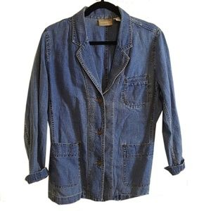 Lizwear Denim Jacket Linen Cotton Blend